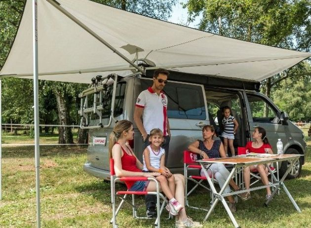 Fiamma Compass Swing Out Canopy Awning for 4x4, SUV and Campervan , Motorhome Caravan Awning - Grasshopper Leisure